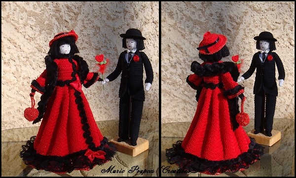 Poupées Amoureux St Valentin