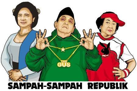 Gambar Karikatur Gus Dur Kartun Lucu Dunia Politik Megawati