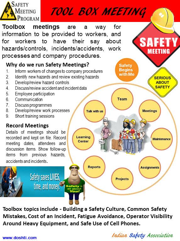 toolbox talk topics construction pdf