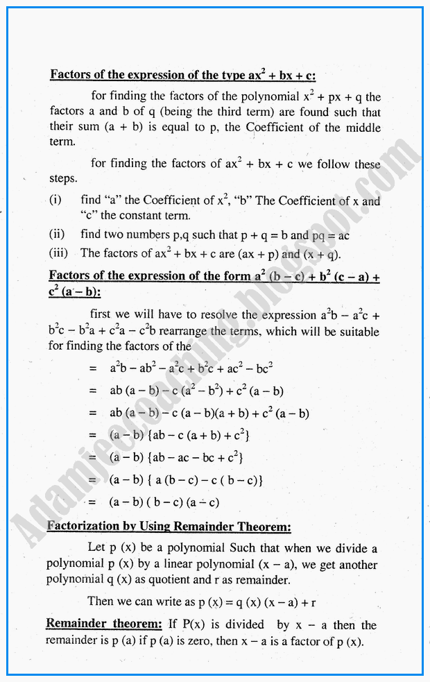factorization-hcf-lcm-simplification-and-square-roots-definitions-and-formulae-mathematics-notes-for-class-10th