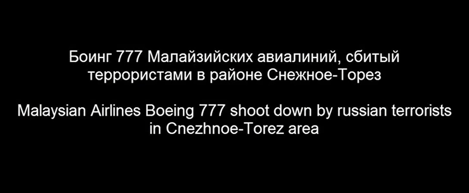 Boeing 777 shoot down by russian