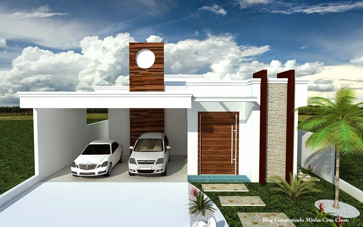Fachadas de casas modernas fachada moderna de casa for Casas pequenas modernas