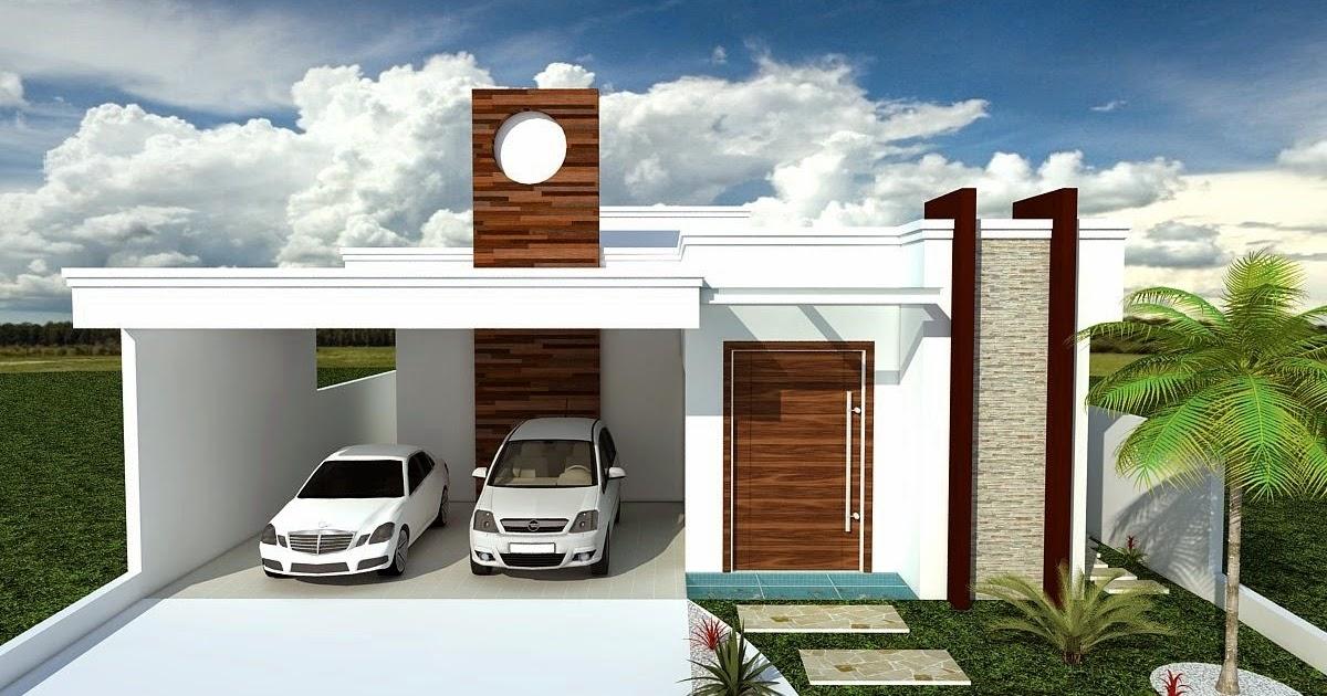 Plantas de casas com 2 quartos e garagem na frente for Casas modernas de 70m2