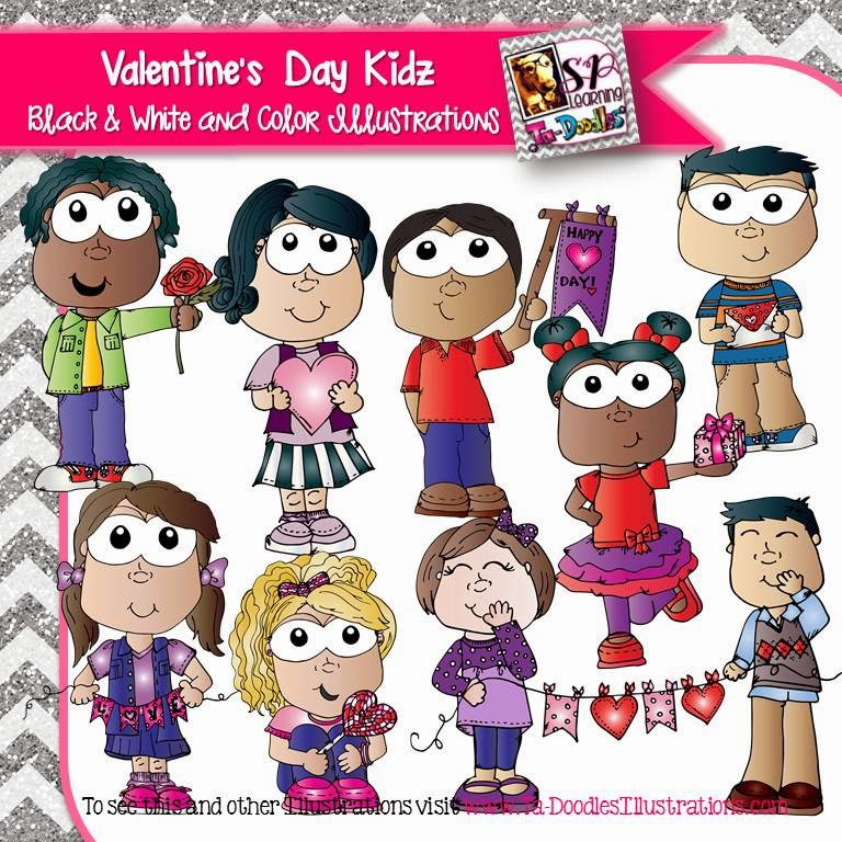 http://www.teacherspayteachers.com/Product/Valentines-Day-Kids-clip-art-1620438