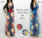 Gamis Denim Flower SOLD OUT