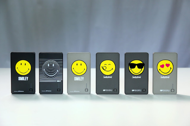 GP X Smiley Power Bank - Six Different Designs