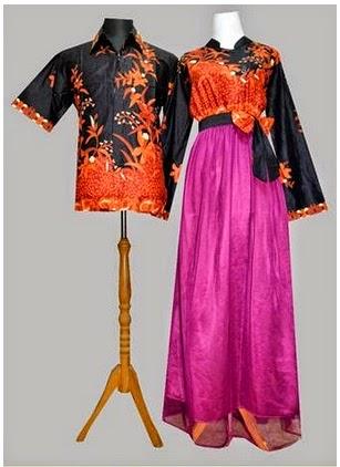 Gambar Gamis Batik Couple Modern