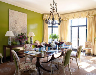 Green Classic Dining Room Design