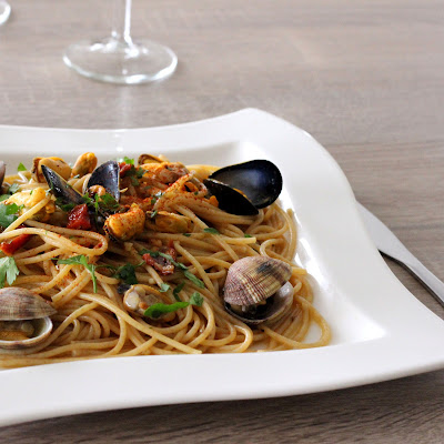 Illustration Spaghetti aux Vongole & aux Moules