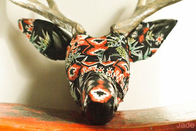 décoration fausse tête de cerf