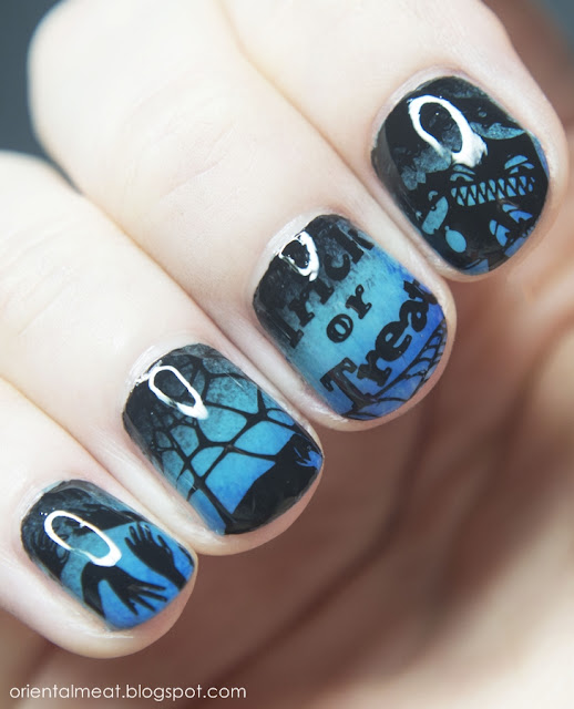Halloween nail art #2 Creep