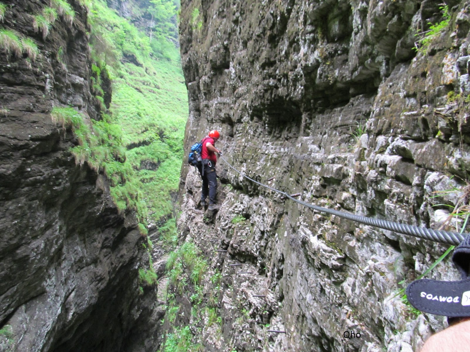 Klettersteig Postalmklamm : Bliżej nieba postalmklamm klettersteig