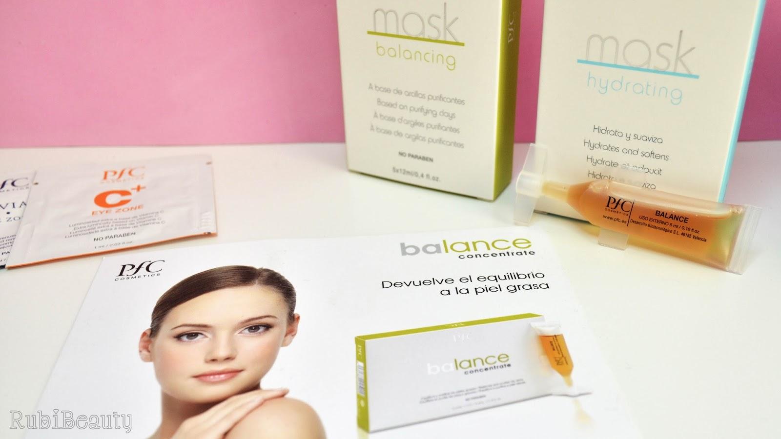 rubibeauty review opinion PFC cosmetics cosmetica profesional piel grasa deshidratada brillos contorno ojos mascarilla serum