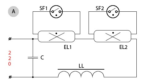 Как подключить люминесцентную