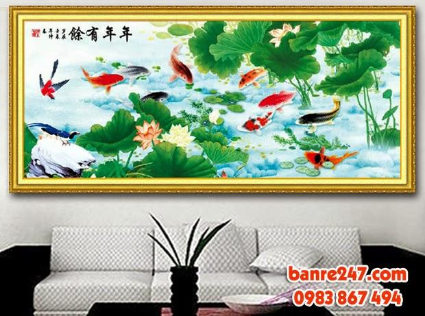Tranh son dau, tranh sơn dầu, tranh ca, tranh cá, ca