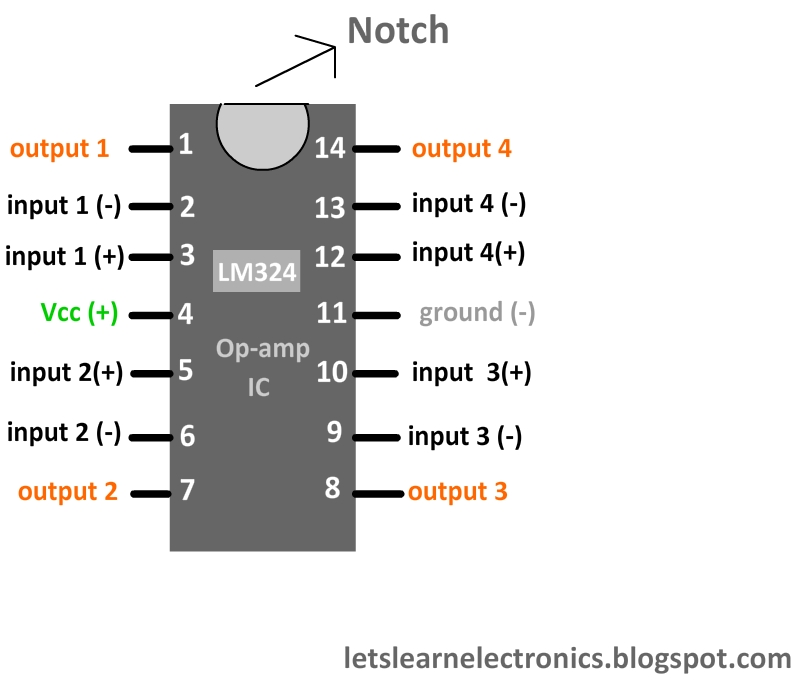 lets learn electronics june 2012 rh letslearnelectronics blogspot com lm324 circuit diagram lm324 pin configuration