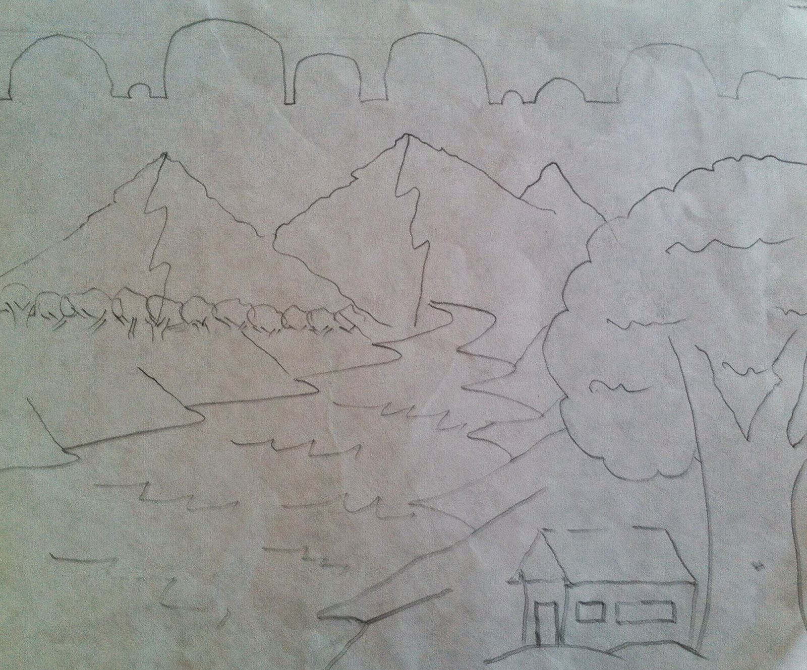 Cool Scenery Drawings Scenery Drawing Techniques