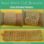 Seed Stitch Cuff Bracelet