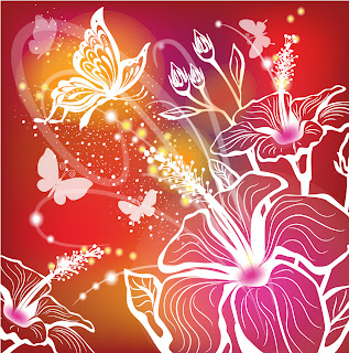  butterfly silhouette pattern colorful background 