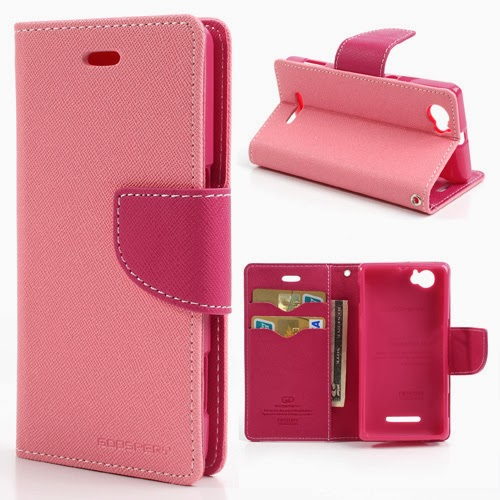 Mercury Goospery Fancy Diary Leather Case for Sony Xperia M C1904 C1905 C2004 C2005 - Pink