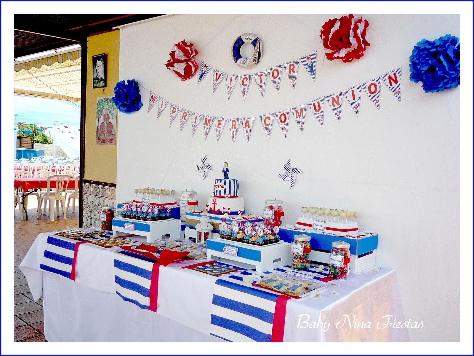 Baby nina fiestas comuni n de v ctor for Mesa dulce marinera