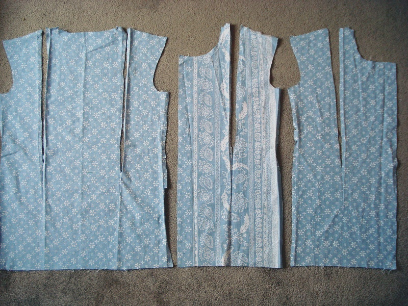 sleeveless homemade shirt pieces with darts