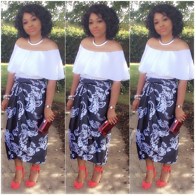 Mercy Aigbe Rocking a Knot Wrapper Style