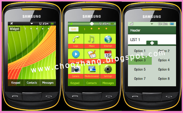 Samsung Corby 2 or S3850 - HTC Android Theme