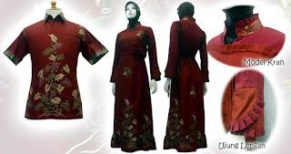busana muslim terbaru batik