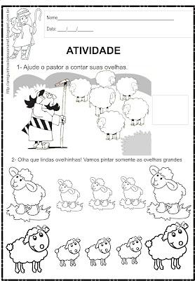 Atividade de matemática - a ovelhinha