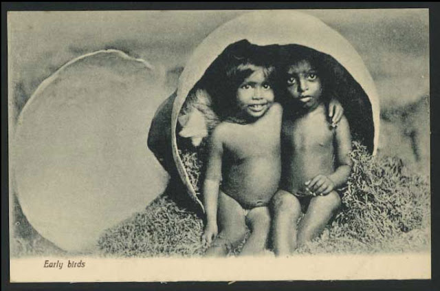 Native-Children-in-a-Egg-Shell-%2528Vintage-Postcard%2529