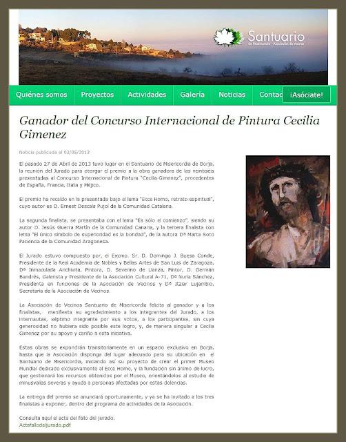 CONCURSO-PINTURA-ECCE HOMO-SANTUARIO-CECILIA GIMENEZ-PINTOR-PREMIOS-ERNEST DESCALS