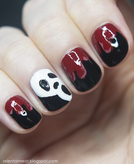 Halloween nail art #1 Scream