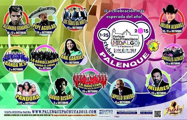 artistas palenque feria pachuca 2015
