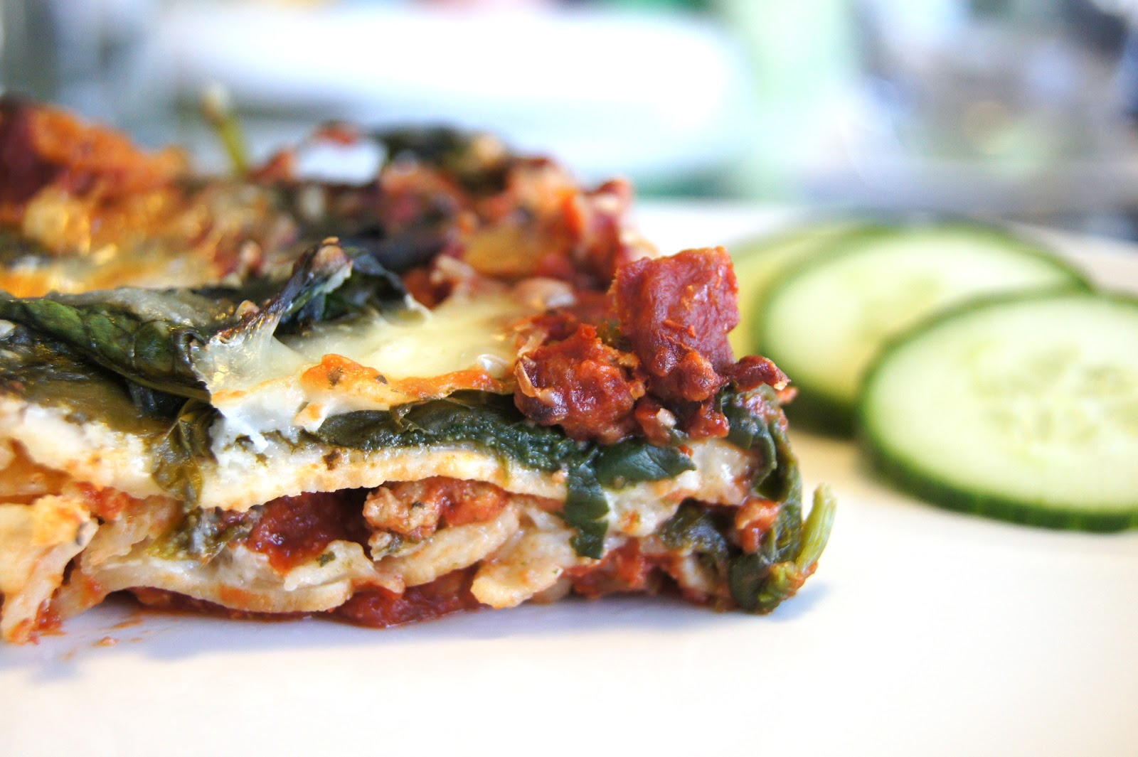 Eating Well, while Gluten Free: Turkey Spinach Lasagne