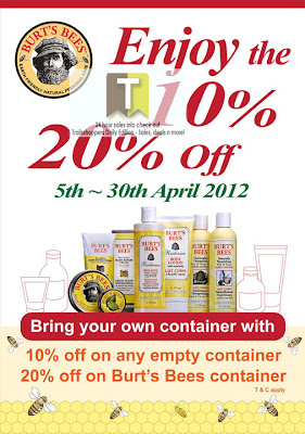 Burt's Bees Eco Month Sales 2012