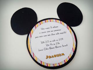 Convite Tema Mickey Do Aniversario Do Meu Filhotinho Feito Na Cricut