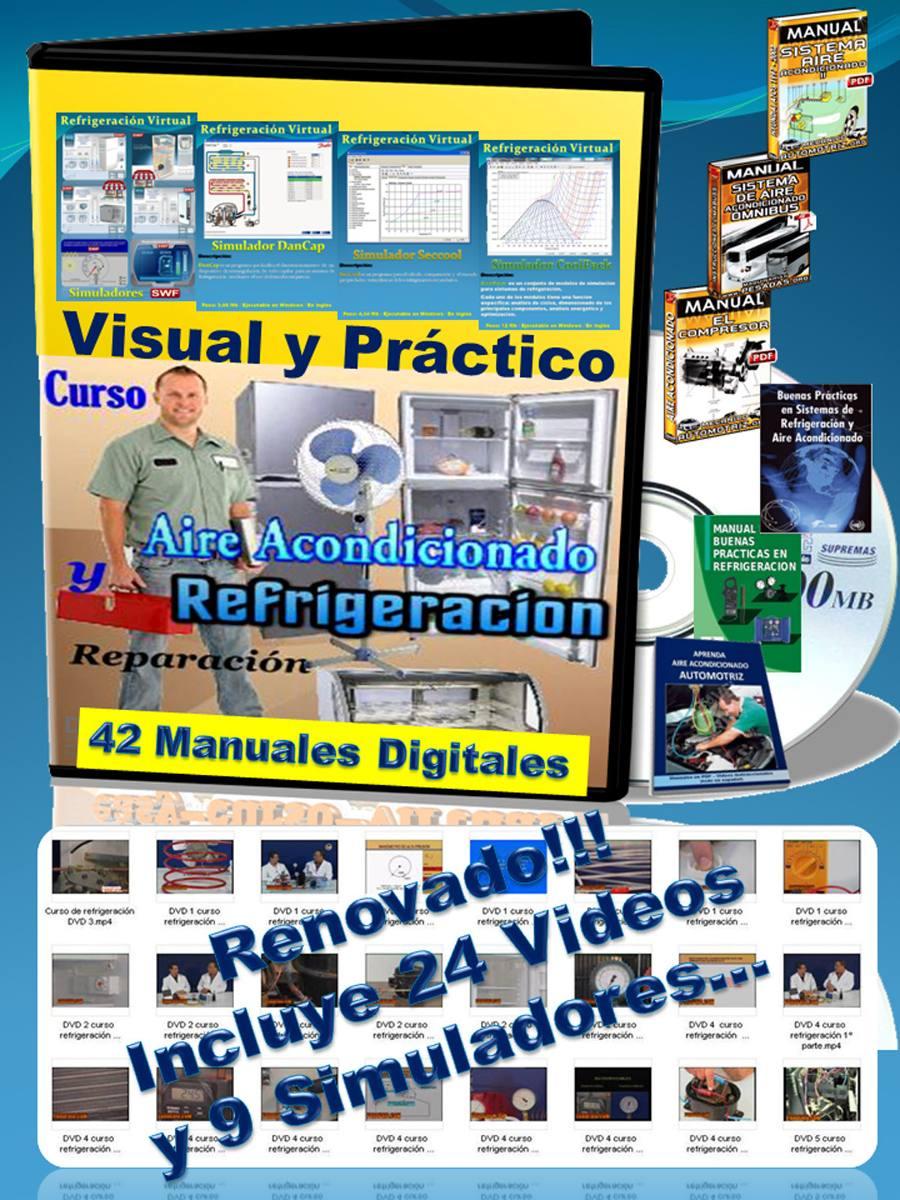 Curso Completo Refrigeración Aire Acondicionado 42 Guías + 24 Videos