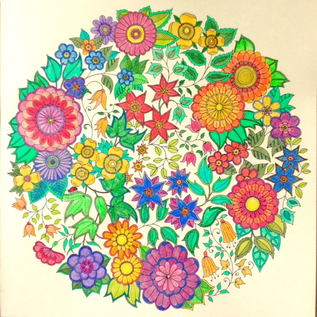 speaking of slow this took me more than 5 hours to color not 5 straight hours though otherwise calluses from the secret garden coloring book - My Secret Garden Coloring Book