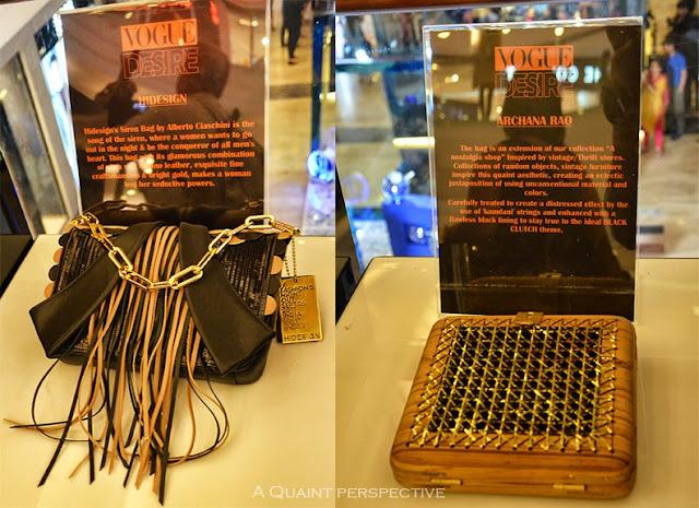 The handbags at display