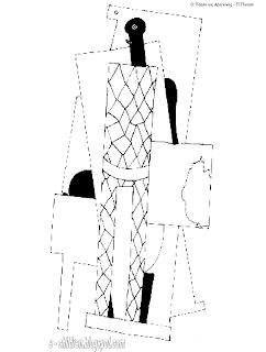 Πικάσο - φύλλο εργασίας για ζωγραφική