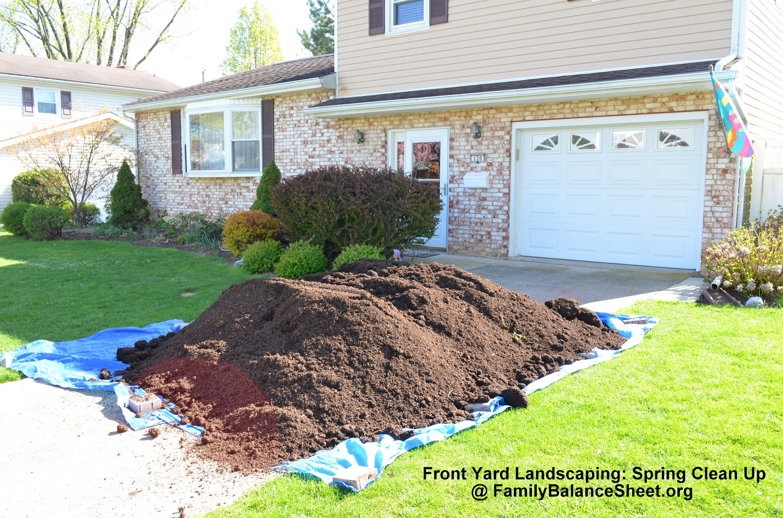 Front yard landscaping spring clean up family balance for Front lawn landscaping