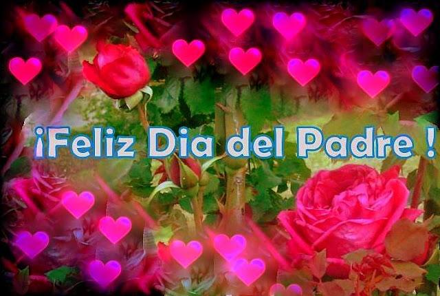 Feliz Dia del Padre Conmemoracion Papa Papito Rosas Rojas Y Corazones   con  regalos en tarjetas virtuales .jpg