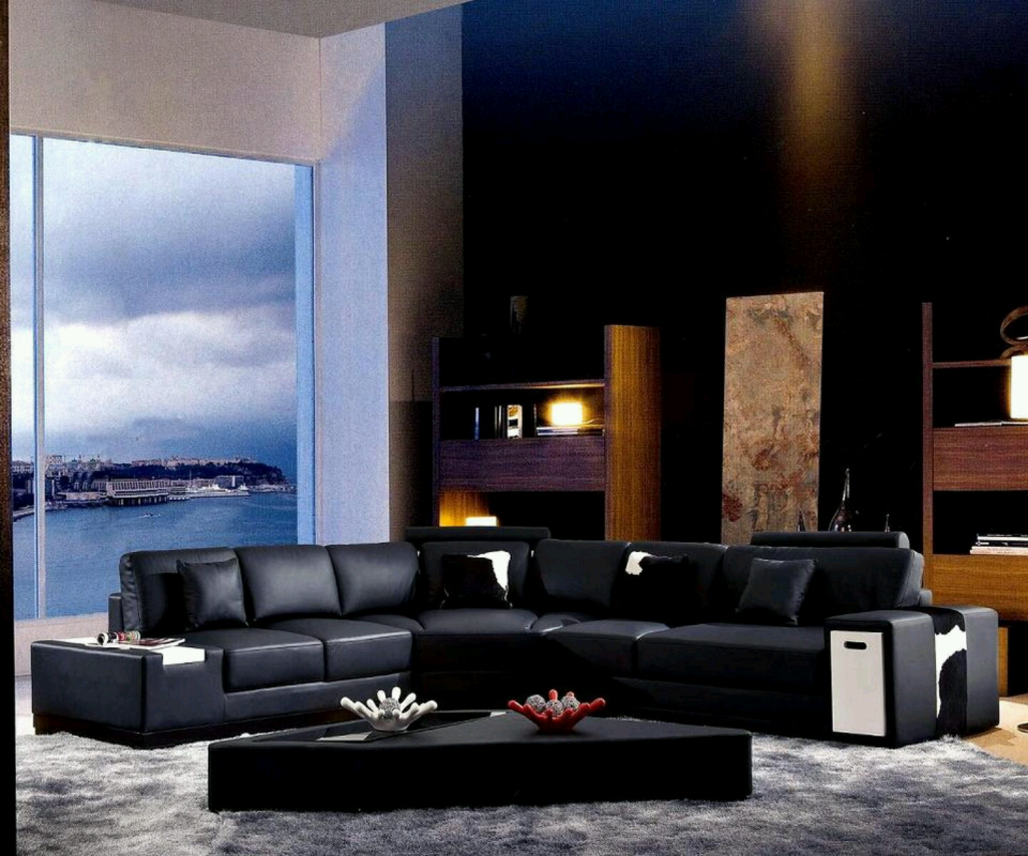 Luxury modern living room design modern house for Pics of living rooms