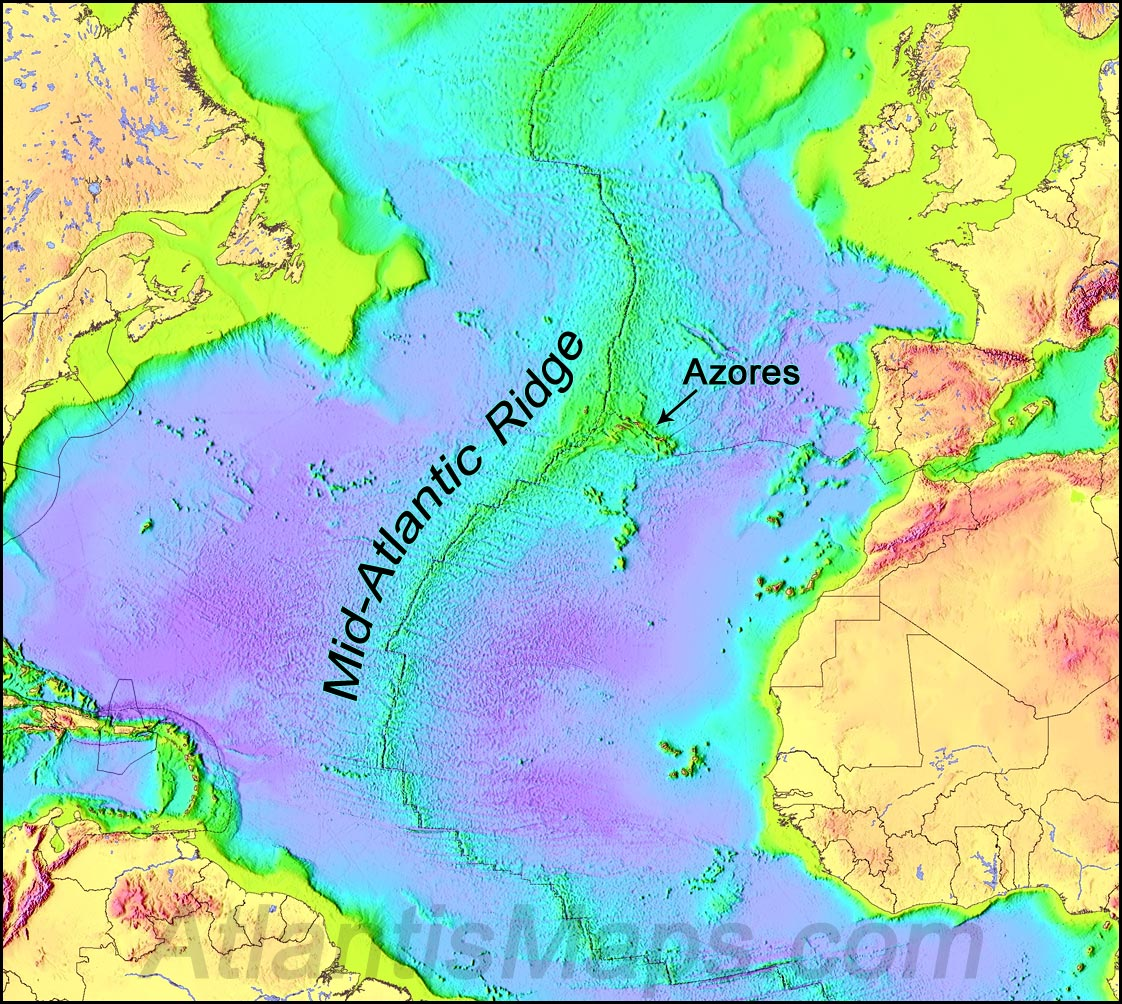 one of the deepest locations of the atlantic ocean this trench however is not regarded as the boundary between the north and south american plates