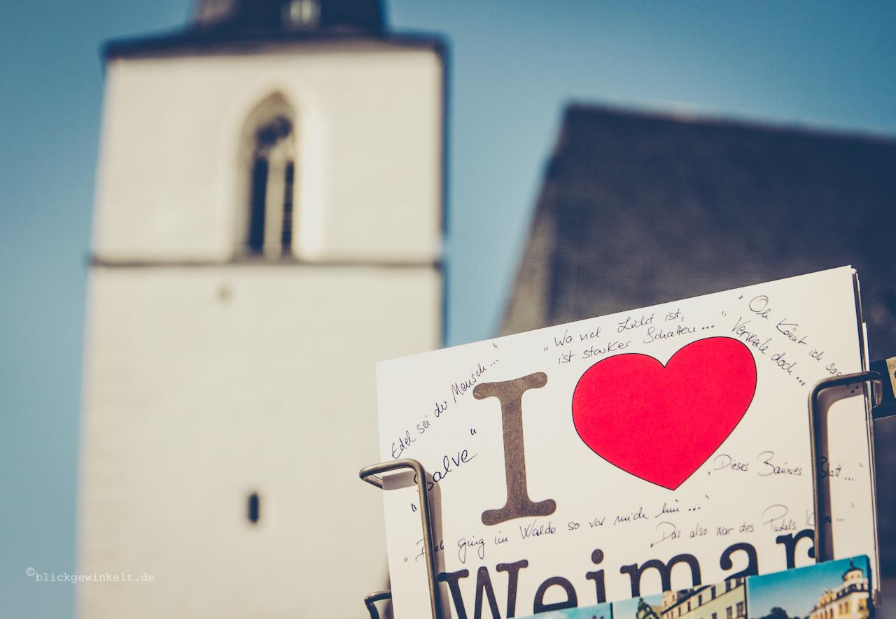 Postkarte I love Weimar
