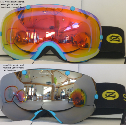 Barkeater FS 4-lens goggle set (1 Polarized, 1 all lighting, 1 overcast, 1 night) by SportCamZ - image