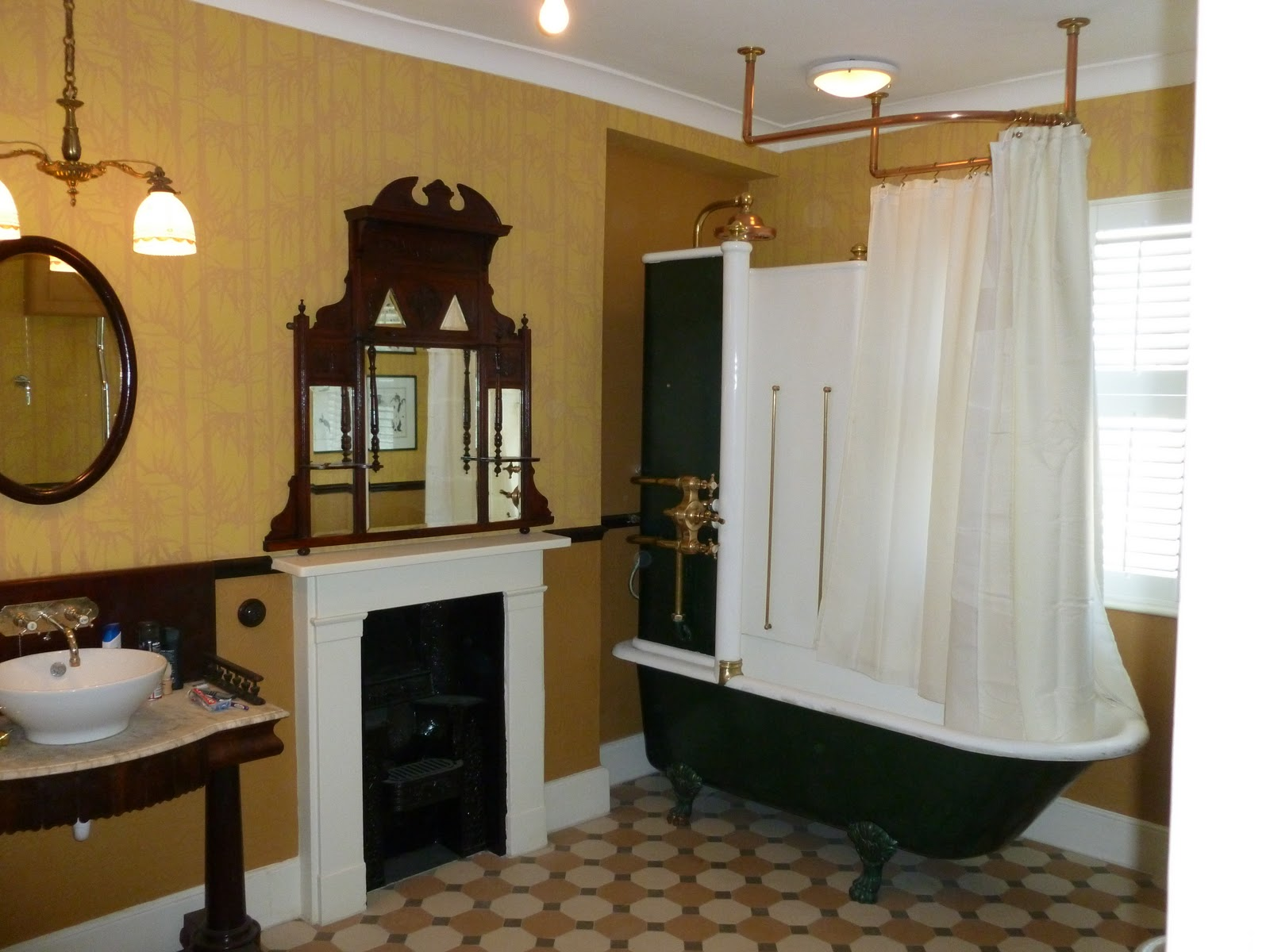 Uk architectural antiques victorian canopy bath sold for Victorian bathrooms