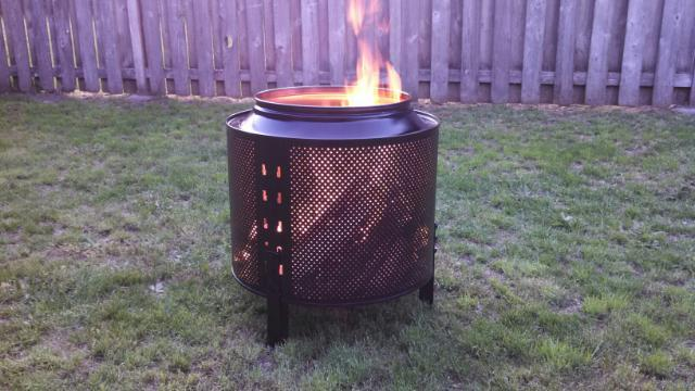 DIY: How To Make A Backyard Firepit Out Of A Salvaged Dryer Drum