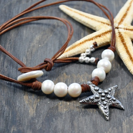 Unique Treasures of Pearl & Leather - Beach Jewelry